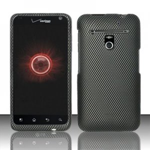 Hard Plastic Rubber Feel Design Case for LG Revolution 4G VS910 - Carbon Fiber