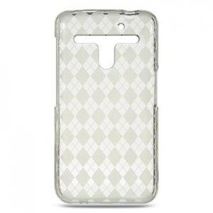 Crystal Gel Check Design Skin Case for LG Revolution 4G VS910 - Clear