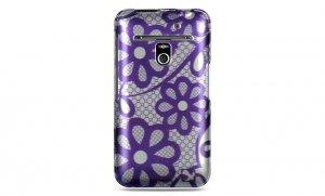 Hard Plastic Design Case for LG Revolution 4G VS910 - Purple Lace