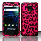 Hard Plastic Rubber Feel Design Case for LG Optimus G2x - Hot Pink Leopard