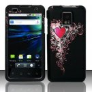 Hard Plastic Rubber Feel Design Case for LG Optimus G2x - Royal Heart