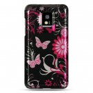 Hard Plastic Design Case for LG Optimus G2x - Pink Butterfly