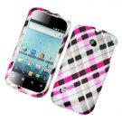 Hard Plastic Rubber Feel Design Case for Huawei Ascend II M865 - Multi Colors Check