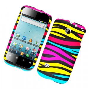 Hard Plastic Rubber Feel Design Case for Huawei Ascend II M865 - Abstract Zebra