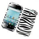 Hard Plastic Glossy Design Case for Huawei Ascend II M865 - Black and White Zebra