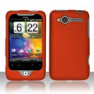 Hard Plastic Rubber Feel Case for HTC Wildfire 6225 - Orange