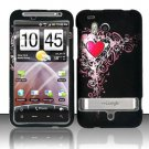 Hard Plastic Rubber Feel Design Case for HTC Thunderbolt 4G (Verizon) - Royal Heart