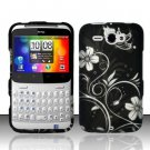 Hard Plastic Rubber Feel Design Case for HTC Status/ChaCha - Midnight Garden