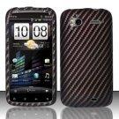 Hard Plastic Rubber Feel Design Case for HTC Sensation 4G - Carbon Fiber V2