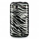 Hard Plastic Design Cover Case for HTC Sensation 4G - Silver and Black Zebra