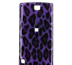 Hard Plastic Design Cover Case for HTC Pure Touch Diamond II - Purple Leopard