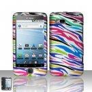 Hard Plastic Rubber Feel Design Case for HTC G2 - Rainbow Zebra