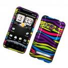 Hard Plastic Glossy Design Full Case for HTC Evo 4G - Abstract Zebra