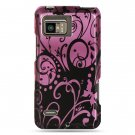 Hard Plastic Design Case for Motorola Droid Bionic Targa XT875 - Purple Swirls