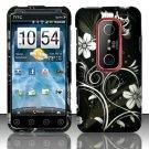 Hard Plastic Rubber Feel Design Case for HTC Evo 3D - Midnight Garden