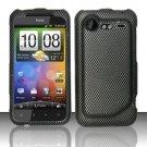 Hard Plastic Rubber Feel Design Case for HTC Incredible 2 6350 - Carbon Fiber