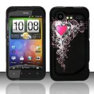 Hard Plastic Rubber Feel Design Case for HTC Incredible 2 6350 - Royal Heart