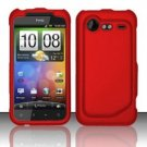 Hard Plastic Rubber Feel Case for HTC Incredible 2 6350 - Red
