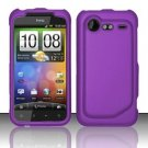 Hard Plastic Rubber Feel Case for HTC Incredible 2 6350 - Purple