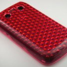 Crystal Gel Diamond Design Skin Case for Blackberry Bold 9700/9780 - Hot Pink