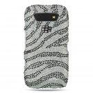 Hard Plastic Bling Rhinestone Design Case for Blackberry Torch 9850/9860 - Multi Colors Zebra