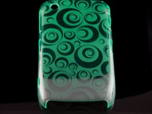 Hard Plastic Crescent Design Back Cover Case for Blackberry Curve 8520 - Green