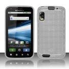 Crystal Gel Check Design Skin Case for Motorola Atrix 4G MB860 - Clear