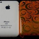 Hard Plastic Crescent Design Back Case for Apple iPhone 3G/3GS - Orange