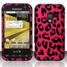 Hard Plastic Rubber Feel Design Case for Samsung Conquer 4G D600 - Hot Pink Leopard