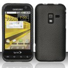Hard Plastic Rubber Feel Design Case for Samsung Conquer 4G D600 - Carbon Fiber
