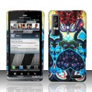 Hard Plastic Rubber Feel Design Case for Motorola Droid 3 - Antique Design