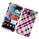 Hard Plastic Rubber Feel Design Case for Samsung Galaxy S II i9100 - Multi Colors Check