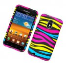 Hard Plastic Rubber Feel Design Case for Samsung Galaxy S II Epic 4G Touch - Abstract Zebra