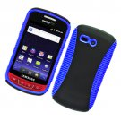 2-in-1 Hard Plastic and TPU Hybrid Case for Samsung Admire R720 - Black and Blue