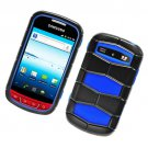 2-in-1 Hard Plastic and Silicone Hybrid Case for Samsung Admire R720 - Black and Blue