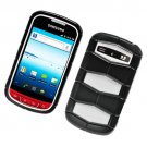 2-in-1 Hard Plastic and Silicone Hybrid Case for Samsung Admire R720 - Black and White