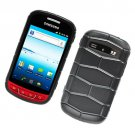 2-in-1 Hard Plastic and Silicone Hybrid Case for Samsung Admire R720 - Black