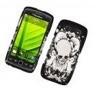 Hard Plastic Rubber Feel Design Case for Blackberry Torch 9850/9860 - Black Skull and Angel