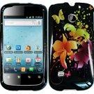 Hard Plastic Rubber Feel Design Case for Huawei Ascend II M865 - Heavenly Flowers