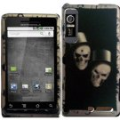 Hard Plastic Rubber Feel Design Case for Motorola Droid 3 - Ghostly