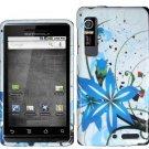 Hard Plastic Design Case for Motorola Droid 3 - Blue Splash
