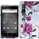 Hard Plastic Design Case for Motorola Droid 3 - Purple Lily