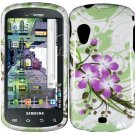 Hard Plastic Design Case for Samsung Stratosphere i405 - Green and Purple Lily