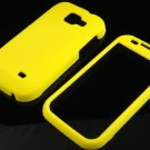 Hard Plastic Rubber Feel Case for Samsung Transform M920 - Yellow
