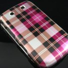 Hard Plastic Design Case for Blackberry Torch 9800 - Hot Pink Check