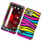 Hard Plastic Rubber Feel Design Case for Motorola Droid Bionic Targa XT875 - Abstract Zebra