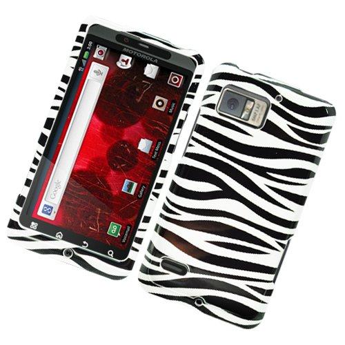 Hard Plastic Glossy Design Case for Motorola Droid Bionic Targa XT875 - Black and White Zebra