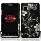Hard Plastic Rubber Feel Design Case for Motorola Droid Bionic Targa XT875 - Midnight Garden