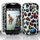 Hard Plastic Rubber Feel Design Case for HTC Mytouch Slide 4G - Rainbow Leopard