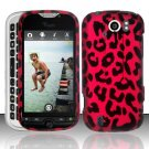 Hard Plastic Rubber Feel Design Case for HTC Mytouch Slide 4G - Hot Pink Leopard